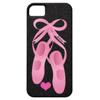 iPhone rosado del ballet del monograma 5 casos iPhone 5 Funda