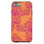 iPhone rosado del tango de la mandarina y