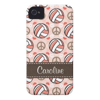iPhone rosado del voleibol 4 cubiertas del Carcasa Para iPhone 4 De Case-Mate