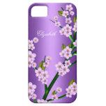 iPhone rosado púrpura del flor 5 con clase elegant iPhone 5 Fundas