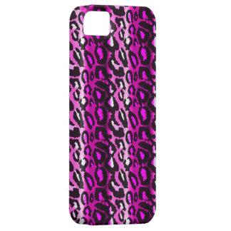 iPhone rosado y negro 5Case del leopardo iPhone 5 Carcasa