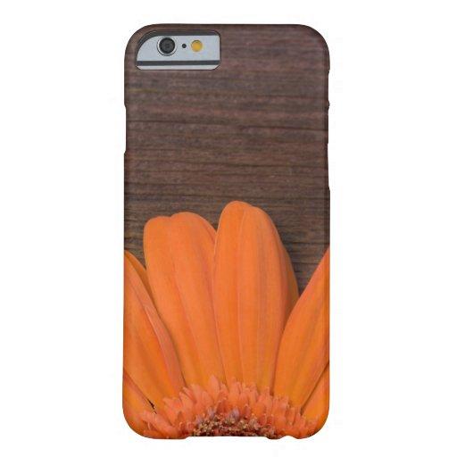 iPhone rústico 6 de la margarita anaranjada Funda De iPhone 6 Barely There