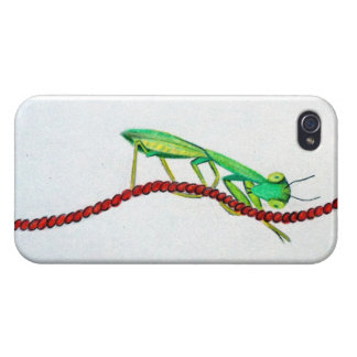 Iphone S4 Cell Phone Case Praying Mantis Go Buggy!