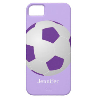iPhone SE, 5/5s Case, Soccer, Purple, Personalized iPhone SE/5/5s Case