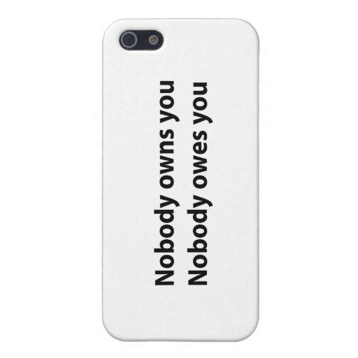 ¡iPhone Shell - nadie le posee! iPhone 5 Cárcasa