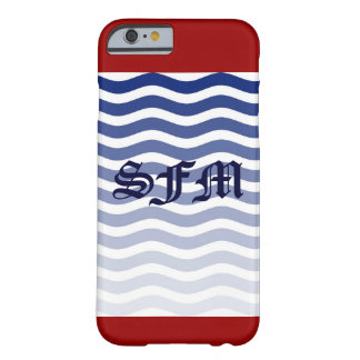 IPhone Six Barely There Red Whit Blue Strips Barely There iPhone 6 Case