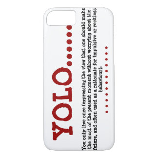 IPhone SIX Case Barely There YOLO.....Red Black