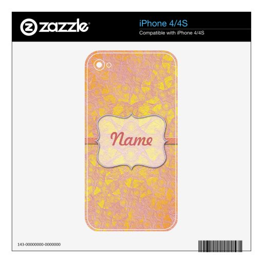 iPhone Skin Abstract background retro style Skin For iPhone 4