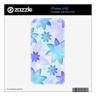 iPhone Skin abstract lotus flower Decal For The iPhone 4