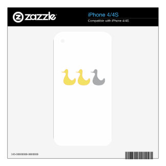 iPhone Skin Duck Duck Gray Duck Skin For iPhone 4