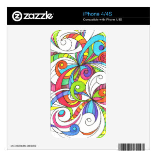 iPhone Skin Floral abstract background iPhone 4S Decal
