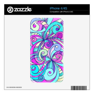 iPhone Skin Floral abstract background Skin For iPhone 4