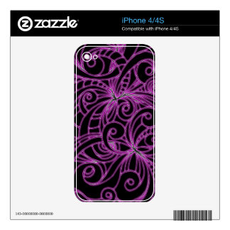 iPhone Skin Floral abstract background Skin For The iPhone 4