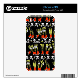 iPhone Skin for iPhone 4/4S Roller Derby print Skin For iPhone 4S