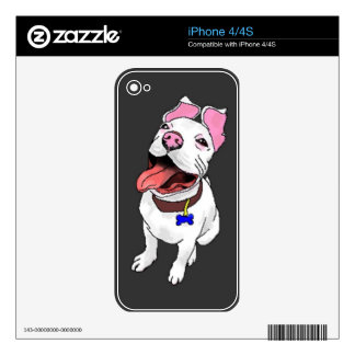 iPhone Skin for iPhone 4/4S Smiling Pit Bull Puppy iPhone 4S Decal