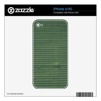 iPhone Skin - Green Shingle Pattern Decals For iPhone 4S