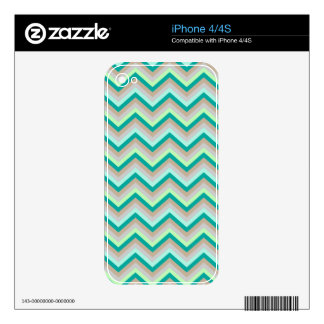 iPhone Skin Retro Zig Zag Chevron Pattern Decals For The iPhone 4S