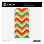 iPhone Skin Retro Zig Zag Chevron Pattern iPhone 4 Decals