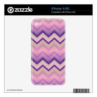 iPhone Skin Retro Zig Zag Chevron Pattern Decals For iPhone 4S