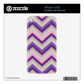 iPhone Skin Retro Zig Zag Chevron Pattern Decal For iPhone 4S