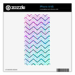 iPhone Skin Retro Zig Zag Decals For The iPhone 4S
