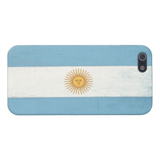 iPhone Skin with Distressed Flag from Argentina Case For iPhone SE/5/5s