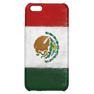 iPhone Skin with Distressed Flag from Mexico Case For iPhone 5C