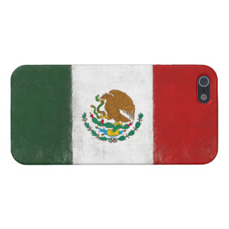 iPhone Skin with Distressed Flag from Mexico iPhone SE/5/5s Cover