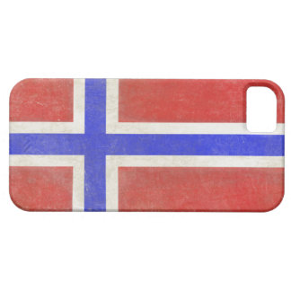 iPhone Skin with Distressed Norwegian Flag iPhone SE/5/5s Case