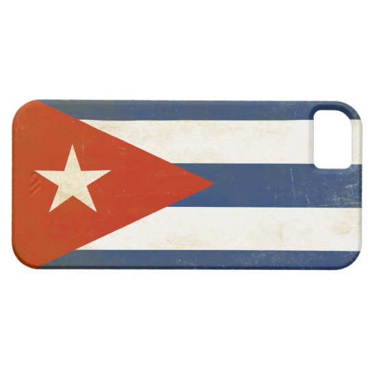 iPhone Skin with Distressed Vintage Flag from Cuba iPhone SE/5/5s Case