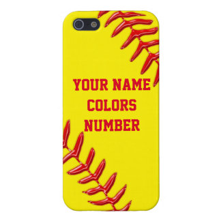 iPhone Softball Cases Personalized Text and Colors