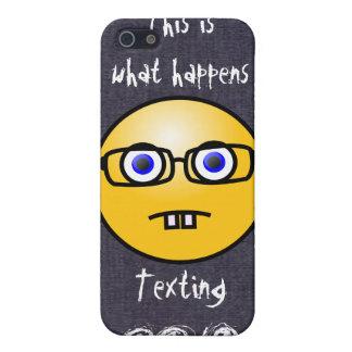 iPhone sonriente 4 de la caja de vidrios del ojo d iPhone 5 Funda