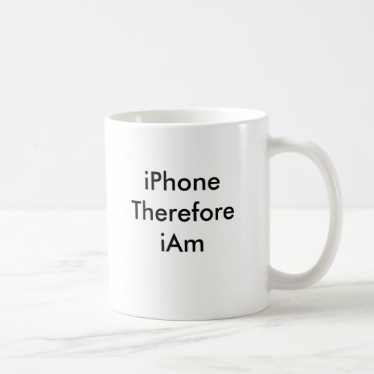 iPhone Therefore iAm Coffee Mug