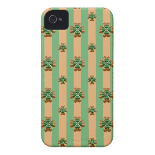 iPhone verde 4/4S de Irlanda de los tréboles del iPhone 4 Protectores