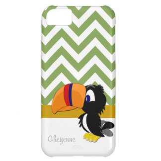 iPhone verde 5 Barely There de Toucan Chevron