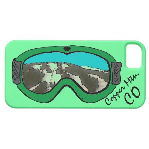 Iphone verde de cobre 5 del arte de las gafas de iPhone 5 fundas