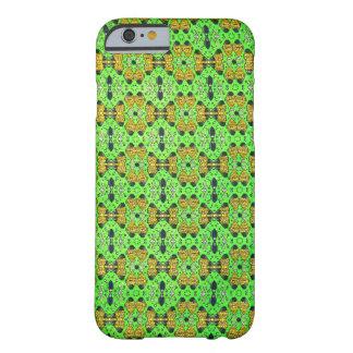 iPhone verde de neón de la materia textil de Funda De iPhone 6 Barely There