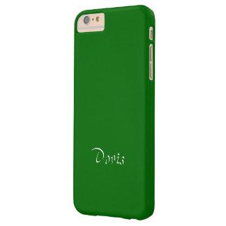 iPhone verde sólido de Doris más la cubierta Funda Barely There iPhone 6 Plus