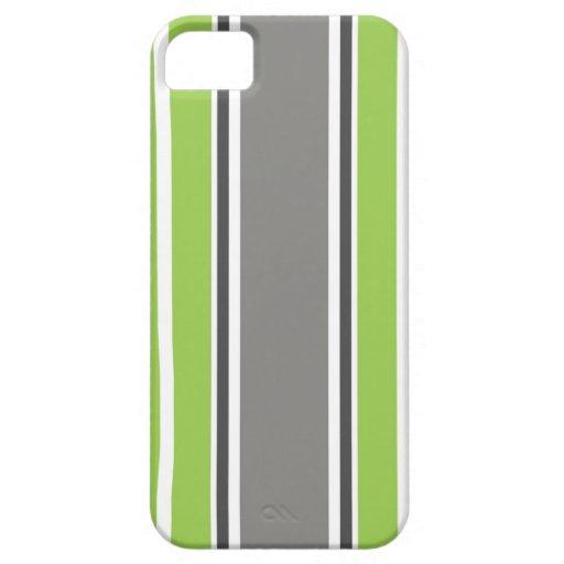iPhone verde y gris 5 del modelo de la raya - y Funda Para iPhone 5 Barely There
