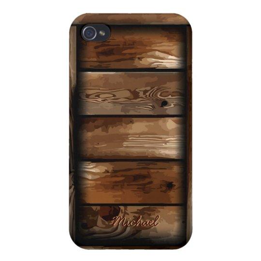 iPhone viejo 4 de la caja de madera de la ruina de iPhone 4 Carcasa