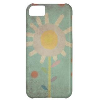 Iphone viejo 5 - 4 de la caja de la flor de la funda para iPhone 5C