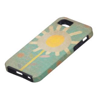 Iphone viejo de la caja de la flor de la turquesa funda para iPhone 5 tough