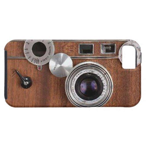 iPhone viejo de la cámara de Brown Funda Para iPhone SE/5/5s