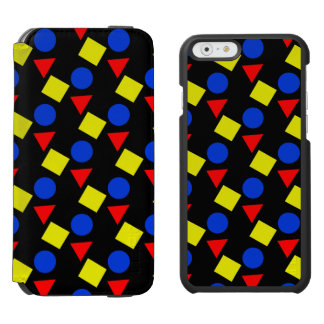 iPhone Wallet Case, Primary Shapes, Primary Colors