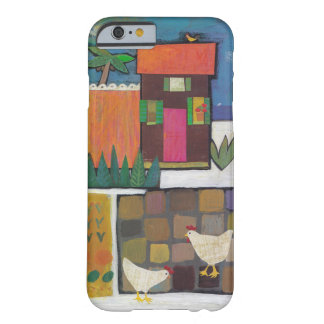 Iphone with charming scene with chickens barely there iPhone 6 case