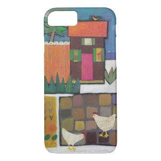 Iphone with charming scene with chickens iPhone 8/7 case