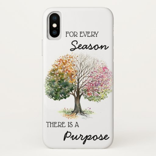 iPhone X Case 4 Seasons Tree w/ Quote Bible