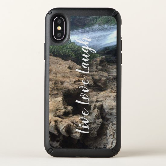 iPhone X Case, Live Love Laugh reminder, waterfall Speck iPhone X Case