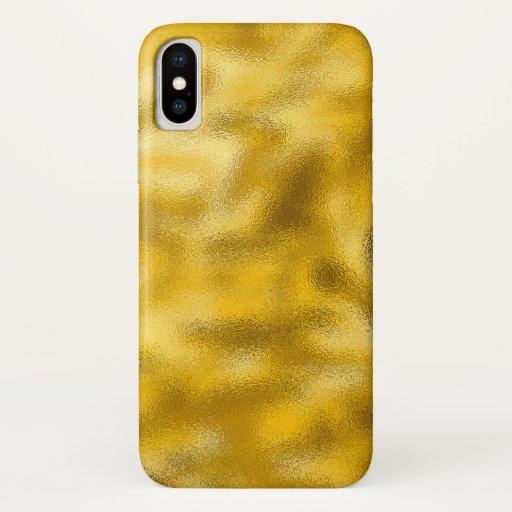 Iphone X Case Molten Gold
