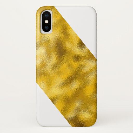 Iphone X Case Molten Gold Slice Left